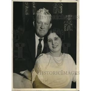 1925 Press Photo Actor E.A. Flugrath and fiance Marie Bourgeois - nec15623