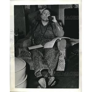 1941 Press Photo Robert Shadoan, Former Coach of Wichita University Bedridden