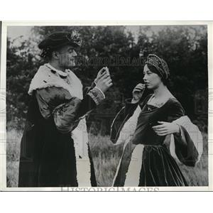 1934 Press Photo Performers of Runnymeade Pageant Rehearse at Egham, Surry