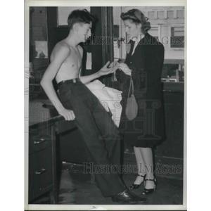 1939 Press Photo Helen Martin & Robert Walters