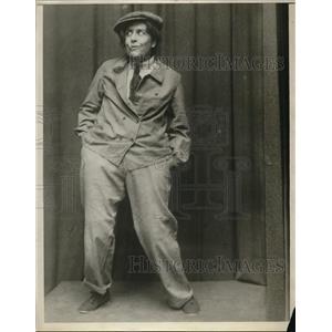1927 Press Photo Mime Karen Bramism French Dramatist - nec61691