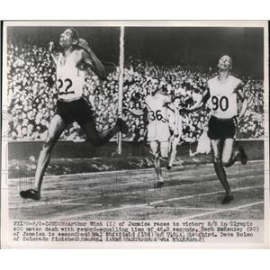 1945 Press Photo Jamaica Races To Victory In London Olympics - nes16240
