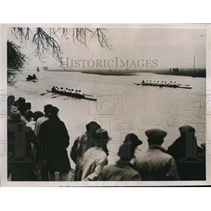 1937 Press Photo Oxford womens crew vs Cambridge on the river - nes16627