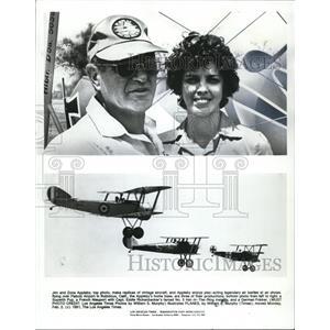 1981 Press Photo Jim & Zona Appleby, replica vintage aircraft @ Flabob Airport