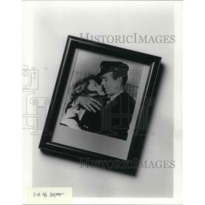 1992 Press Photo Humphrey Bogart and Lauren Bacall