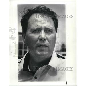 1987 Press Photo Jim Andres air controller