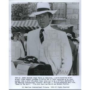 1976 Press Photo Roger Moore American Actor Shout At The Devil Action Movie Film