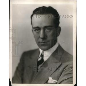 1929 Press Photo Silent Film Era Actor Jack Mulhall