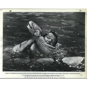 1979 Press Photo Roger Moore stars as James Bond in Moonraker - orp08360