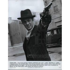 1975 Press Photo Tony Curtis as Louis Lepke Bucharlter in Lepke movie film