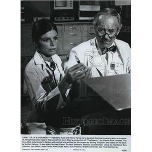 1978 Press Photo Henry Fonda & Katharine Ross in The Swarm - orp14604