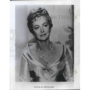1975 Press Photo Olivia de Havilland Actress and Author Williamette University