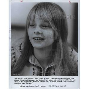 1977 Press Photo Jodie Foster - orp14445