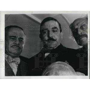 1977 Press Photo Martin Balsam, Albert Finney in Murder on the Orient Express