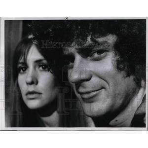 1969 Press Photo Kathleen Dabney and Robert Foxworth star on Sadbird - orp14968