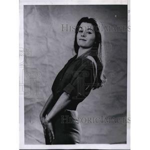 1961 Press Photo Flora Elkins in Rhinoceros - orp14499