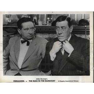 1960 Press Photo Fernandel in The Man in The Raincoat - orp14355