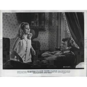 1966 Press Photo Jane Fonda and Peter McEnery in The Game is Over - orp14379