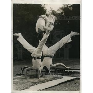1935 Photo Queens College Boys Do Tumbling Exhibition Commencement