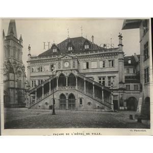 1919 Press Photo De L'Hotel de Ville in Berne City, Switzerland.