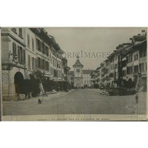 1919 Press Photo La Grande Rue et la Porte de Berne in Berne City, Switzerland