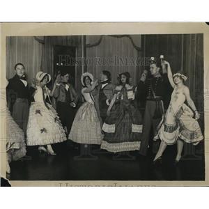 1930 Press Photo Quadrille Ball H Mollison, R English,B Hitchin