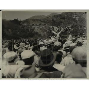 1933 Press Photo La Calif relief workers threaten strike Earl E Jensen speech