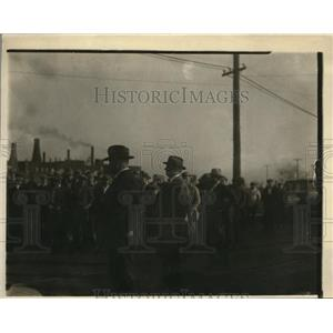 1924 Press Photo Crowds gather to hear campaign speech from Franklin Roosevelt