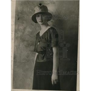 1920 Press Photo Lucile alias Ruth Jones, the Mona Lisa