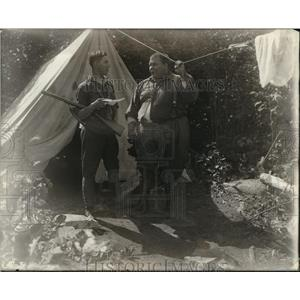 1922 Press Photo Fred Beauvais and Louis Curvotte in The Lonely Trail