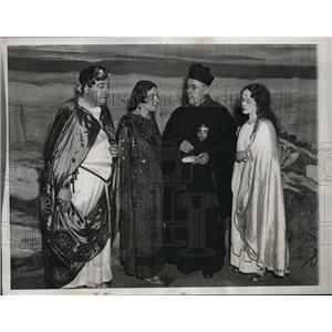 1935 Press Photo Passion Play L Matthews, R Bickler, Father Conrad, M Lebren