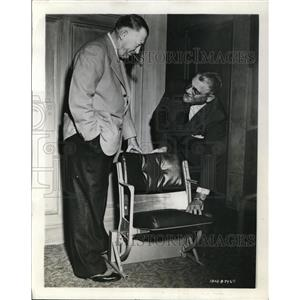 1946 Press Photo Leland Stanford Larry MacPail with C.P. Joslyn with Yankee Seat