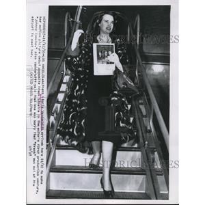 1955 Press Photo Actress Gloria Vanderbilt