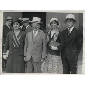 1932 Press Photo Katsuji Sebochi & family Japanese Amb to US