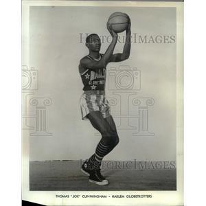 1967 Press Photo Thomas Joe Cunningham Harlem GlobeTrotters