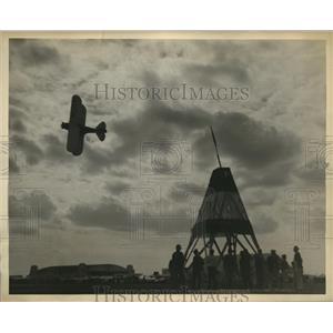 1931 Vintage Photo pilot Freddie Lund rounding pylon Miami Open Race
