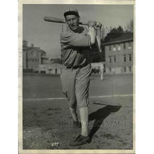 1935 Press Photo Ernie Holbrook University of Southern California Baseball