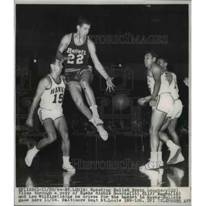 1964 Press Photo St Louis Mo Kevin Loughery 22 vs Hawks Richie Guerin