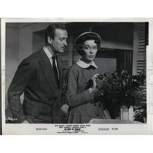 1957 Press Photo David Niven and Barbara Rush star in Oh Men Oh Women