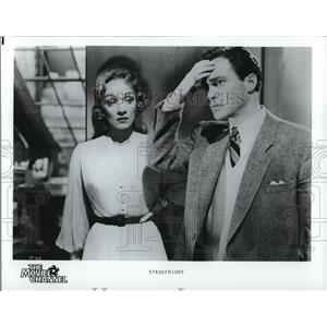 1986 Press Photo Marlene Dietrich and Richard Todd star in Stage Fright