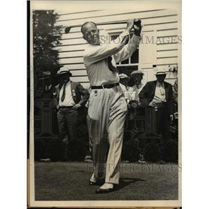 1934 Press Photo Wiffy Cox, Professional Golfer, at National Open Championship