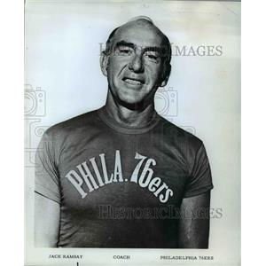 1972 Press Photo Jack Ramsay Coach Philadelphia 76ers