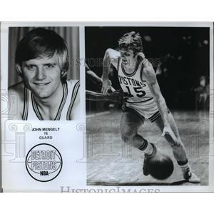 Press Photo NBA Detroit Pistons Guard John Mengelt