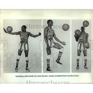 Press Photo Harlem Globetrotters, Leon Hillard player-coach