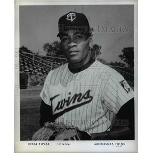 Press Photo Cesar Tovar Infielder Minnesota Twins Baseball Player