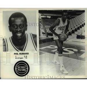 Press Photo Phil Hubbard of the Detroit Pistons