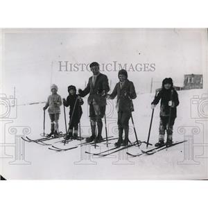 1929 Press Photo Bob Jay, Joan de Tristan, E Tucker, Cyrii Tucker,Isabel Tristan