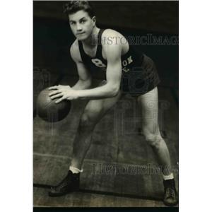 1935 Press Photo Jack Holstine Capt Washington State college basketball varsity
