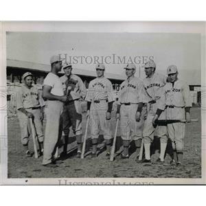 1936 Press Photo Hank Leiber Coach University of Arizona