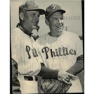 1956 Press Photo Mayo Smith, Philadelphia Phillies manager